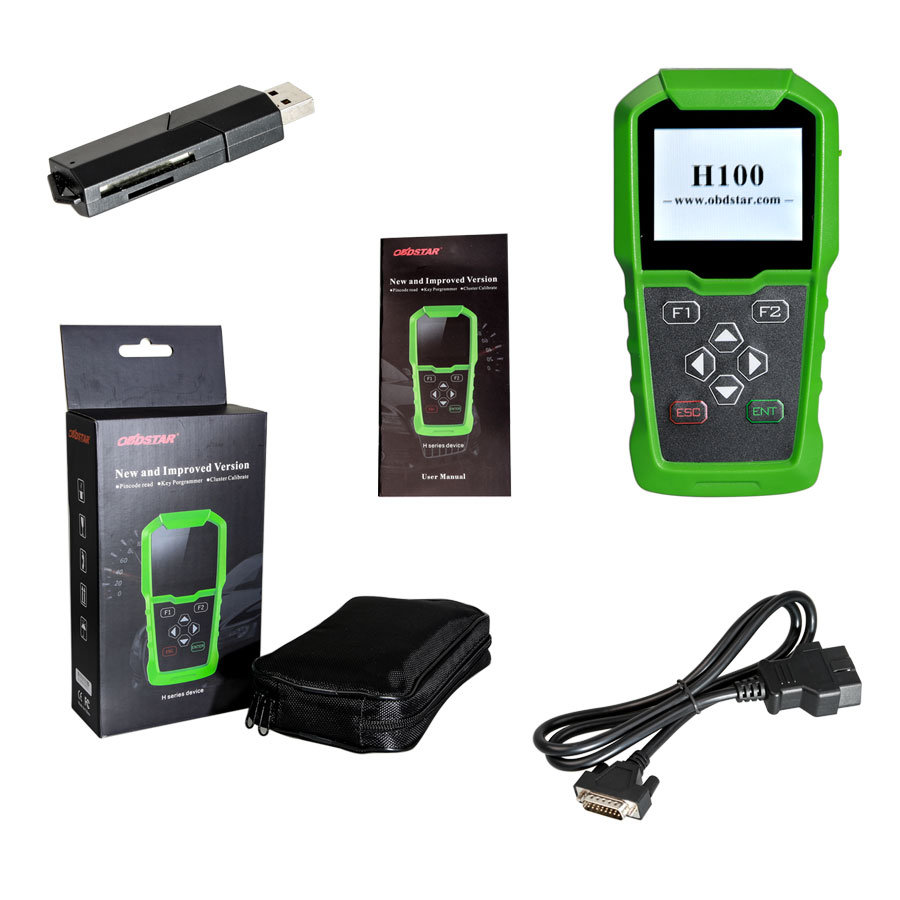 obdstar h100 key programmer full package
