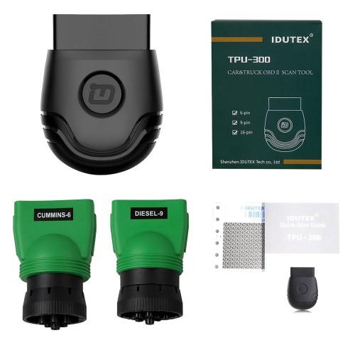 Idutex tpu300 truck obd2 scanner with obd sockets