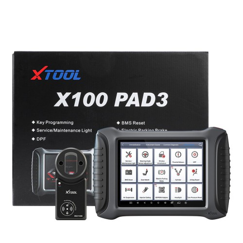 XTOOL X100 PAD3 with kc100 adapter
