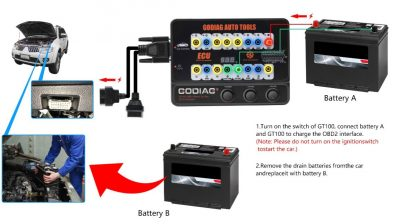 GT100 supply Power when change Battery